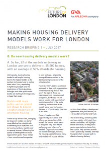 housing delivery models briefing