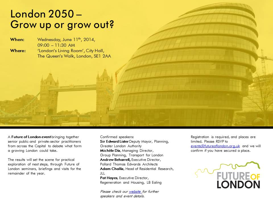 Event: London 2050 – Grow up or grow out?