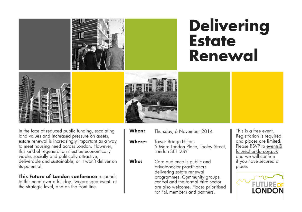 Conference: Delivering Estate Renewal