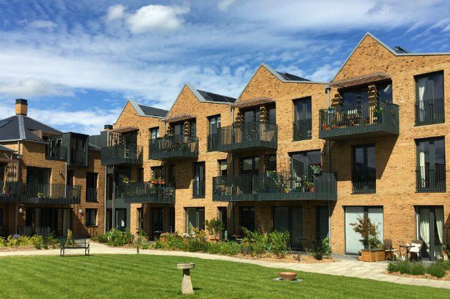 New Ground homes and communal garden