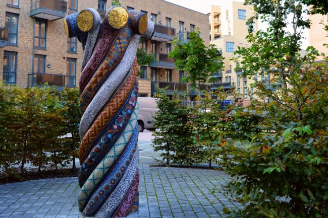 Public art and new housing at St Paul's Square